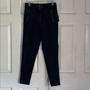 NWT Forever 21 Black Belted High Rise Ankle Pants